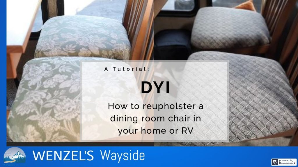 DIY: How to Reupholster a Chair in your RV or Home